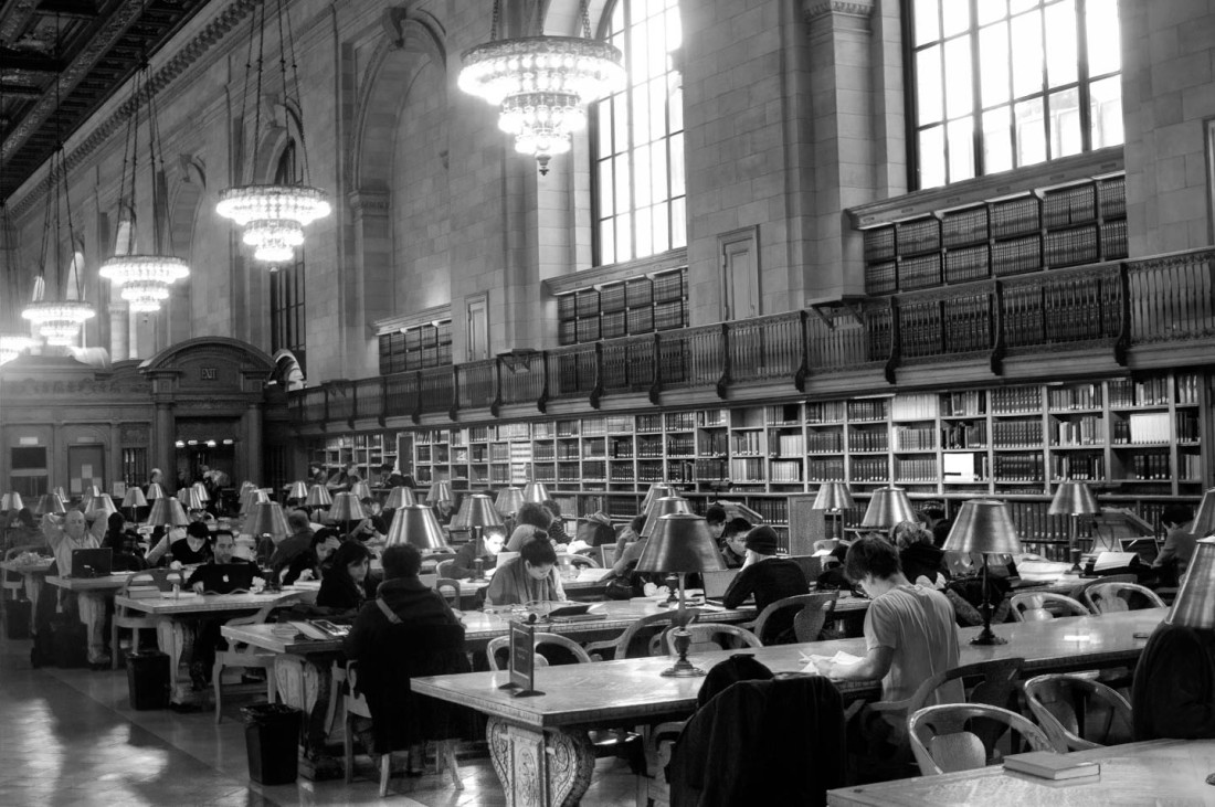 public-library-reading-room-bw