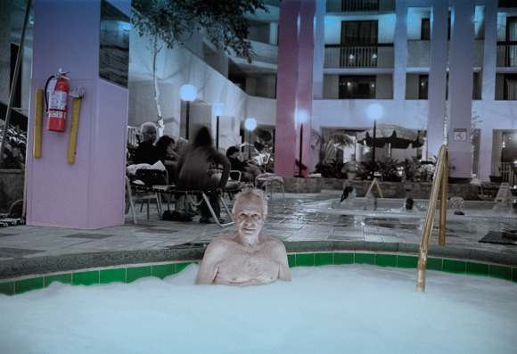 Dad in Hot Tub - years ago.